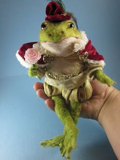 *NEEDLE FELT ART ~ by Robin Joy Andreae: Henry, the Frog Prince