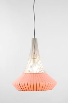 WHITE PENDANT WIRED LAMP - PEACH | Contemporary Art. Design Gifts. Ideas. | Everything Begins