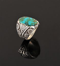Begaye, Marco - Sterling Silver Ring With Turquoise -