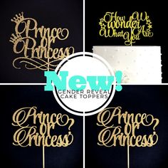New Gender Reveal cake toppers!! Fresh off the design table. Prince or Princess....oh how we wonder what you are? ❤️ What's your favourite? Check our shop. You won't regret it