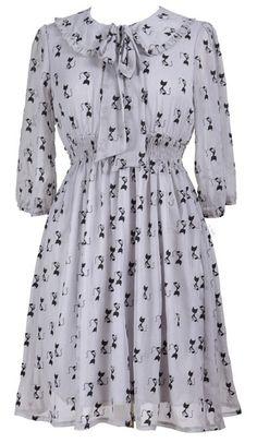 Cat print dress