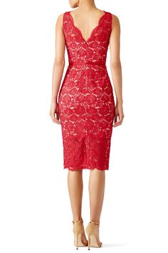 Red Anna Dress by nha khanh for $95 | Rent the Runway