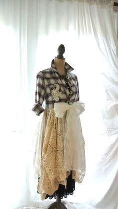 Flannel jacket Gypsy vagabond coat bohemian by TrueRebelClothing, $120.00