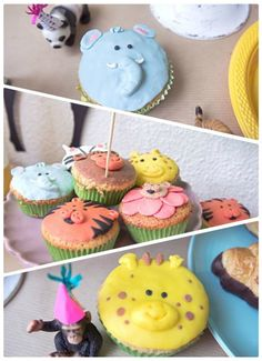 CUMPLEAÑOS INFANTILES ANIMALES ANIMAL KIDS PARTY (13) cupcakes