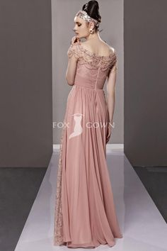 Rose Lace Bodice Sheath Off Shoulder Long Formal Dress with Ruffle Skirt