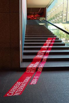 Really like the ground wayfinding idea...  {Exhibition signage | wayfinding inspiration}