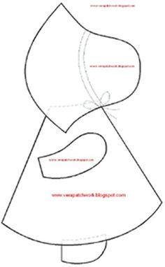 Sunbonnet Sue More Applique Templates, Applique Patterns, Applique Quilts, Embroidery Applique, Quilt Patterns, Baby Girl Quilts, Girls Quilts, Granny Square Quilt, Felt Animal Patterns