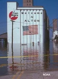 The Great Flood of 1993. The Mississippi flooded from March until October. Several towns were completely submerged and no longer exist.