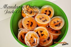 Housewife Eclectic: Mandarin Orange Jack-o-Lanterns