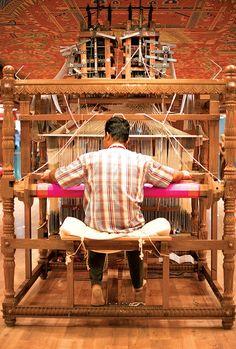 Celebrating India's First National Handloom Day Indian Textiles, Indian Fabric, Saris, Handloom Weaving, Weaving Textiles, Weaving Projects, Silk Brocade, Banarasi Sarees, Hand Weaving