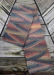Ravelry: Slip Slope Scarf free pattern pattern by Vashti Braha. Slip slope may be another way to achieve non-stripey wavesCrochet Slip Slope Stitch - a slip stitch crochet scarf features short rowing and ribbing made of slip stitches worked into the Shawl Crochet, Slip Stitch Crochet, Bonnet Crochet, Tunisian Crochet, Knit Or Crochet, Crochet Scarves, Crochet Crafts, Crochet Stitches, Crochet Projects
