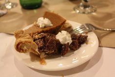 Pecan and Pumpkin Pie