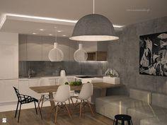 pas kafli wzdłuż kuchni połączony z parkietem | Kuchnia styl Nowoczesny - zdjęcie od Icona Studio - Kuchnia - Styl Nowoczesny - Icona Studio