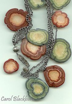 Faux Agate, Carol Blackburn, polymer clay.