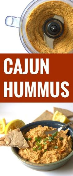 A Mediterranean classic gets a spicy upgrade with herbs and hot cayenne pepper in this zesty Cajun hummus. Healthy Afternoon Snacks, Healthy Snacks, Dip Recipes, Whole Food Recipes, Vegan Recipes, Cajun Recipes, Cooking Recipes, Cayenne Pepper Recipes, Cayenne Pepper Sauce