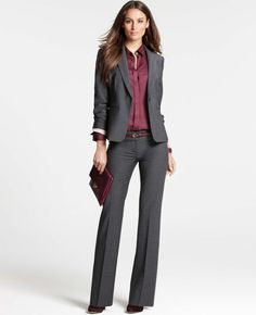 Ann Taylor - AT Suits - Tropical Wool Pickstitched Jacket