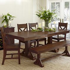 a warm dining room table