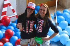 Zeta Tau Alpha at Duke University #ZetaTauAlpha #ZTA #Zeta #BidDay #America #FannyPack #neon #snapback #balloons #sorority #Duke