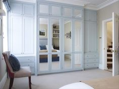 Fitted Wardrobe Mirrored Closet Ideas Closet Bedroom  Modern Built In Cupboards ... | 1000 Home, Built In Cabinets, Closet Bedroom, Bedroom Design, Bedroom Wardrobe, Built In Cupboards, Bedroom Built Ins, Build A Closet, Bedroom Closet Doors