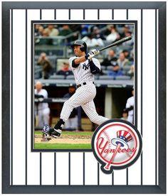 Derek Jeter 2014 New York Yankees - 11 x 14 Team Logo Matted/Framed Photo