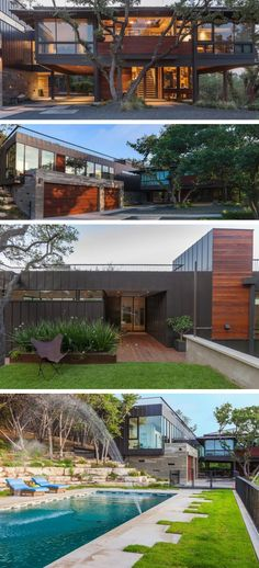 Michael Hsu Office Of Architecture have designed a contemporary remodel and an addition to a home in Austin, Texas.