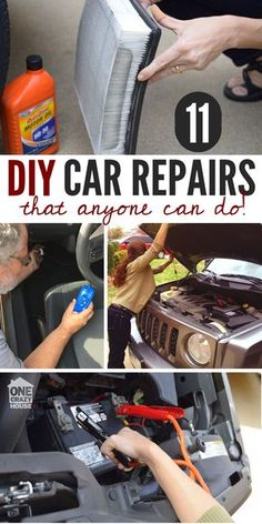 16 seriously clever tricks to deep clean your car pinterest 11 easy car repairs you can totally do yourself solutioingenieria Gallery