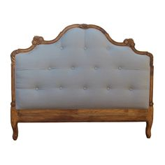 Ramika's French Style Shabby Chic Upholstered Headboard King Size in Retro Touch finish. Upholstery in Natural Grey Linen Fabric. Linen Headboard, Headboards For Beds, Boudoir, Master Bedroom Set, Headboard Designs, Headboard Ideas, Rococo Furniture, Industrial Style Kitchen, Bed Sizes