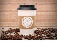 Custom Printed Coffee Cup Sleeves, Hot Cocoa Bars, Hot Cider Cup Sleeves or Insulators, pack of 12 by DetailsonDemand on Etsy