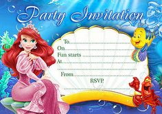 10  children #birthday party #invitations / thank you #cards ariel mermaid,  View more on the LINK: 	http://www.zeppy.io/product/gb/2/191735161210/