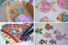 Crafts with children…a decorative fish web - Petit & Small