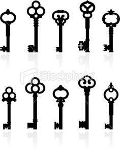 Vector Clip Art Of Antique Keys Collection