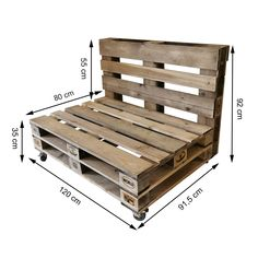 Pallet Furniture Designs, Pallet Patio Furniture, Diy Garden Furniture, Pallet Couch, Pallet Designs, Pallet Ideas Easy, Diy Pallet Projects, Diy Sofa, Pallet Seating