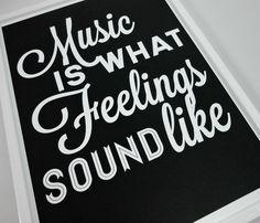 Music Feelings Print Uncovet