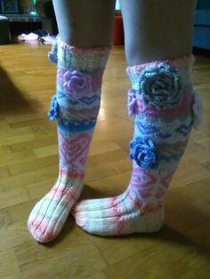 Puuvillaiset sydän sukat