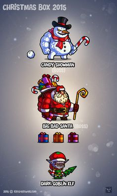 Christmas RPG Adventure Character Drawing, Game Character, Character Design, Game Card Design, Goku Drawing, Vector Game, 2d Game Art, Character Creator, Illustrator Cs5