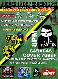 """Cresta Metálica Producciones » Reggae & Rock """"For The Dogs"""" este 19 de febrero en El Teatro Bar Caracas"""