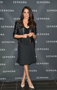 TORONTO, ON - OCTOBER 01:  Actress Meghan Markle attends Sephora Unveils Toronto Eaton Centre Remodel at Toronto Eaton Centre on May 19, 2016 in Toronto, Canada.  (Photo by George Pimentel/WireImage) via @AOL_Lifestyle Read more: https://www.aol.com/article/lifestyle/2017/02/28/meghan-markle-style-transformation/21860612/?a_dgi=aolshare_pinterest#fullscreen