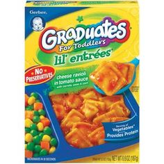 Gerber Graduates Lil Entrees Cheese Ravioli in Tomato Sauce with Mixed Veggies, 6.6 oz