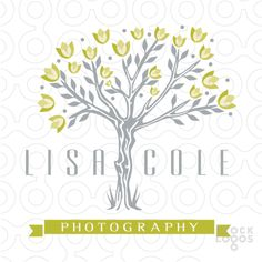 Logo Sold Natural organic and rustic tree design with olive blossom