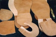 Soles, midsoles, split lifts and heel lifts all cut from Bakers' best oak bark tanned soling