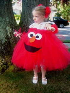 Sesame Street Tutu Dresses ~ Great idea!!!  These are so adorable, easy and inexpensive!