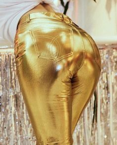 If only all gifts were this well wrapped. The Fiorucci Sale is on. Up to on everything in-store and online. Including the gold Yves… Shiny Leggings, Tight Leggings, Gal Gabot, Gold Fashion, Womens Fashion, Celebrity Style Casual, Latex Pants, Fashion Photography, Pants For Women