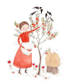 "Julianna Swaney ""Natalia & the Apple Tree"" | Art Star"