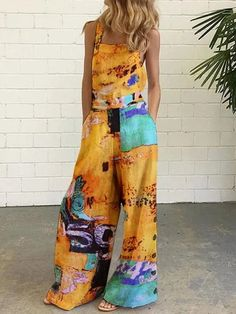 #Fall2021collection #Falloutfits #Fallcollection #FallWear #Autumnwear #fashionintrend #womenfashion #Expressyourself #autumncollection #auntumndress $110.00 $59.43 Yellow Jumpsuit, Jumpsuit Outfit, Romper Dress, Rompers Women, Jumpsuits For Women, Classy Outfits, Fall Outfits, Summer Outfits, Summer Dresses