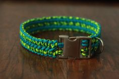 Extra Wide Paracord Dog Collar by KaysCollars on Etsy