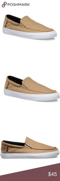 88540d0d744 Vans hemp kakhi rata vulc tan sneaker shoes New with box Vans Hemp kakhi  tan fabric upper White rubber outsole Brown shoe lace Men size 8 Woman size  Vans ...