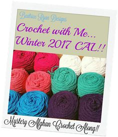 Ravelry: Crochet with Me... Winter 2017 CAL-Mystery Afghan pattern by Elena Hunt