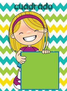 Compañeros y amigos agradecemos a Interactivos para la Clase por diseñar y compartir con todos nosotros estos Lindos y fantásticos Math Bingo, Math 2, Shapes Flashcards, Shape Chart, September Crafts, Teaching Geometry, Abc For Kids, Teacher Supplies, Toddler Learning