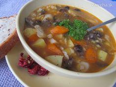 Hríbovo-hubová polievka s melencami (fotorecept) - Recept