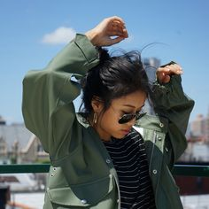 Shop all the jackets in Alpha Industries' seasonal and theme collections such as NASA, camo, and aviator. Fishtail, Fashion Company, Collaboration, Sage, Windbreaker, Green, Jackets, Shopping, Salvia